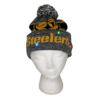 NFL Pittsburgh Steelers LED Lighted Stripe Beanie Gray Knit Chapeau d'hiver A371654