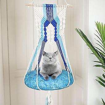 Baumwolle Handgewebte Wandteppich Haustier Katze Hängematte Bett Schaukel Böhmische Wand hängen für Zu Hause Schlafzimmer