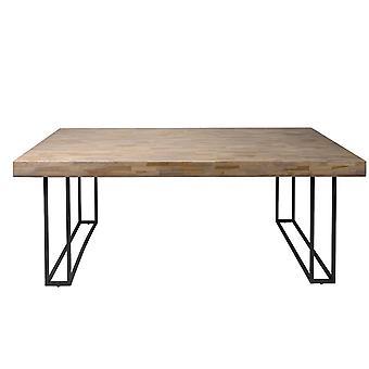 Tomasso's Savona Dining Table - Modern - Natural - Metal - 200 cm x 100 cm x 75 cm