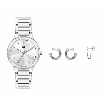 kvinners klokke tommy hilfiger klokker gave sett - 2770110 armbånd stål sølv