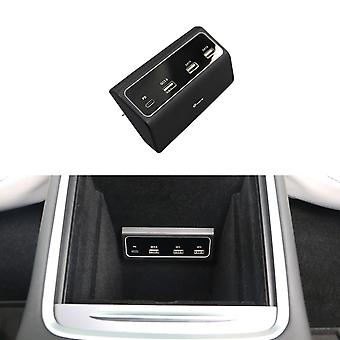 Tpartscompatible With Tesla Model3/y Console Center Hub Adapter Adaptor Dock