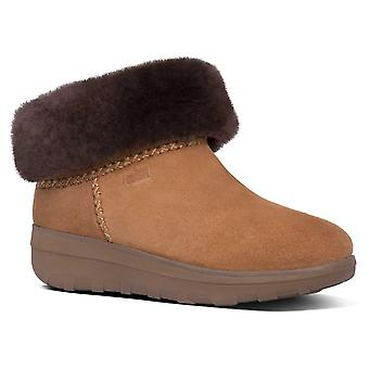 Fitflop™ Mukluk Shorty Shearling-lined Chestnut Brown Suede Ankle Boot