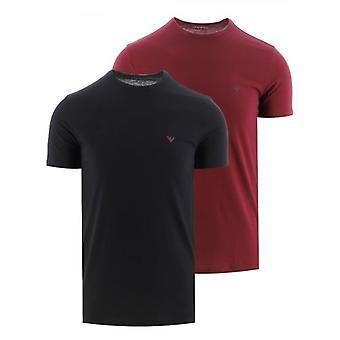 Emporio Armani Loungewear Punainen ja Musta 2-Pack Crew Neck T-paidat