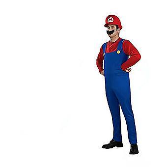 Halloween Děti Dospělý Unisex Super Mario Luigi Fancy Šaty Kostým