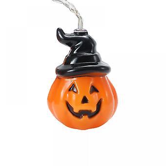Luces de cadena de Halloween, luces de calabaza led, luces navideñas para decoración al aire libre, 2 modos luces estables / parpadeantes (20 luces de calabaza, 9.8 pies)