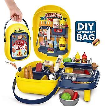 Simulatie Keuken Kinderen Barbecue Spiesjes Barbecue Speelgoed Set Speelhuis Outdoor Barbecue Handtas Speelgoed Kinderen Favoriete Cadeau