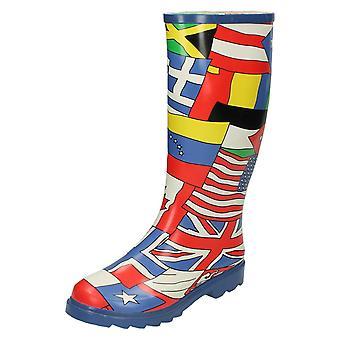 Womens plek op de wereld vlag ontwerp Wellington laarzen
