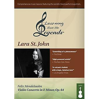 Learning From the Legends: Mendelssohn Violin Con [DVD] USA import