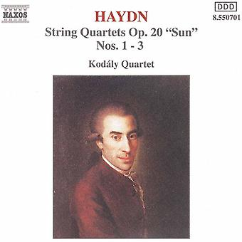 J. Haydn - Haydn: jousikvartettoa, Op. 20 su, nrot 1-3 [CD] USA tuonti