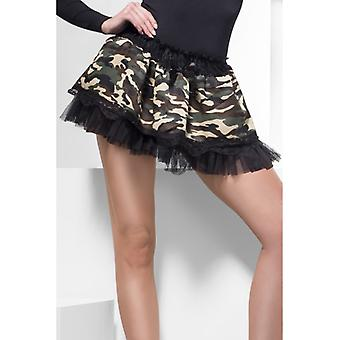 Tutu Spódniczka dziewczęca Halka kamuflażu wojskowej wygląd