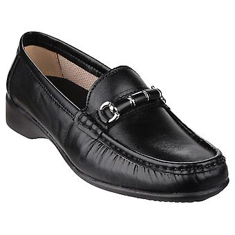 Cotswold Womens Barrington Slip em Loafer Shoe Black