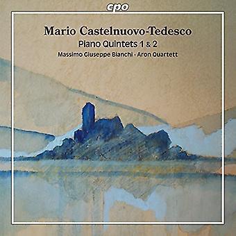 Castelnuovo-Tedesco / Bianchi / Aron Quartett - Piano Quintets 1 & 2 [CD] USA import