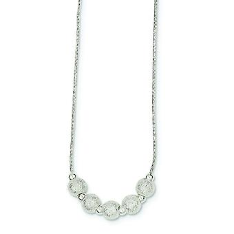 925 Sterling Silber hohl poliert Laser geschnitten Hummer Kralle Verschluss Perlen auf Schlange Kette Halskette 16 Zoll Hummer Kralle Je