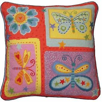Butterflies Needlepoint Kit