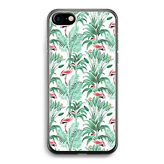 iPhone Case 7 Transparent (weich) - verlässt Flamingo