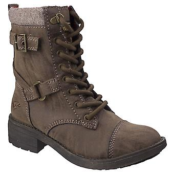 Rocket Dog Womens Thunder Biker Boot Brown Erfstuk