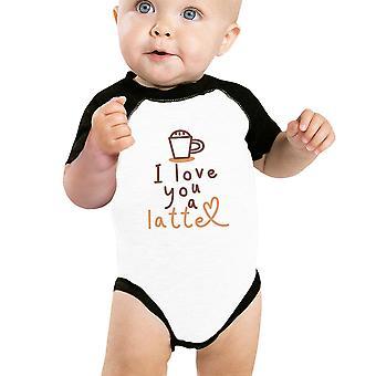 Liebe ein Latte Raglan Shirt niedlichen Baby Raglan T-Shirt Baby Babygeschenke