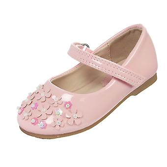 Infant girls pink patent occasion ballerina shoes