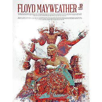 Floyd Mayweather Jr Poster With Biography (18x24)