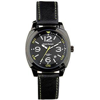 Relógio de pulso relógio de Bruno Banani de Cetos couro analógico BR30018