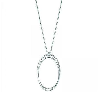 ESPRIT collection ladies chain necklace silver cubic zirconia Antheia ELNL93128A800
