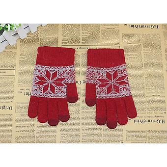 Guanti touch screen - Red Snow Flake