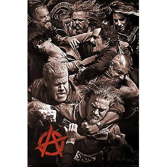 Sons of Anarchy - Fighting Poster Print (24 x 36)