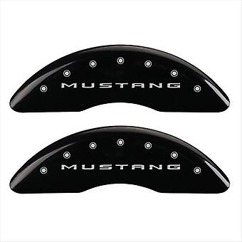 SET OF 4 CALIPER COVERS, FRONT: 2015/MUSTANG -REAR: 2015/BAR & PONY, BLACK POWDE
