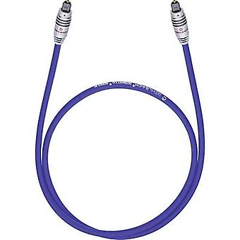 Toslink Digital Audio Cable [1x Toslink plug (ODT) - 1x Toslink plug (ODT)] 0.50 m Blue Oehlbach XXL® Series 80