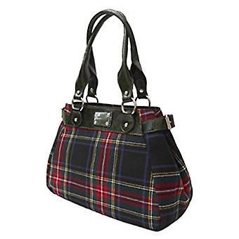 Tartan Handtasche M (Stewart schwarz)