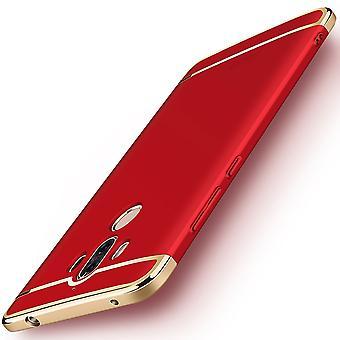 Matkapuhelin kansi tapauksessa Huawei mate 10 Pro puskurin 3 in 1 kansi kromi punainen