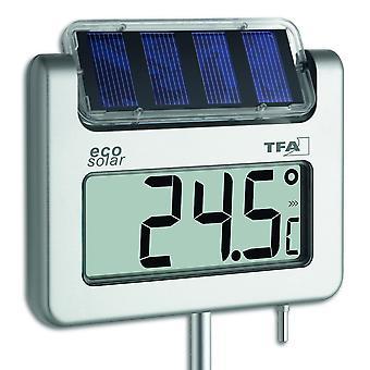 Solar Puutarha lämpömittari digital alumiini säänkestävä 117 cm