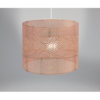Country Club Metal Light Shade, Copper Circles