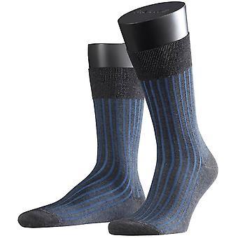 Schaduw van de Falke sokken - antraciet/blauw