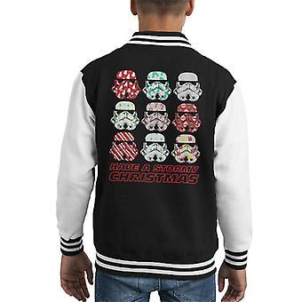 Original Stormtrooper Have A Stormy Christmas Kid's Varsity Jacket