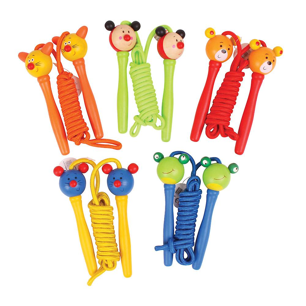 Bigjigs Toys Children's Coloured Skipping Ropes (Pack of 2) Active Outdoor