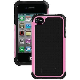 Ballistic Shell Gel Case for Apple iPhone 4/4S - Pink/Black
