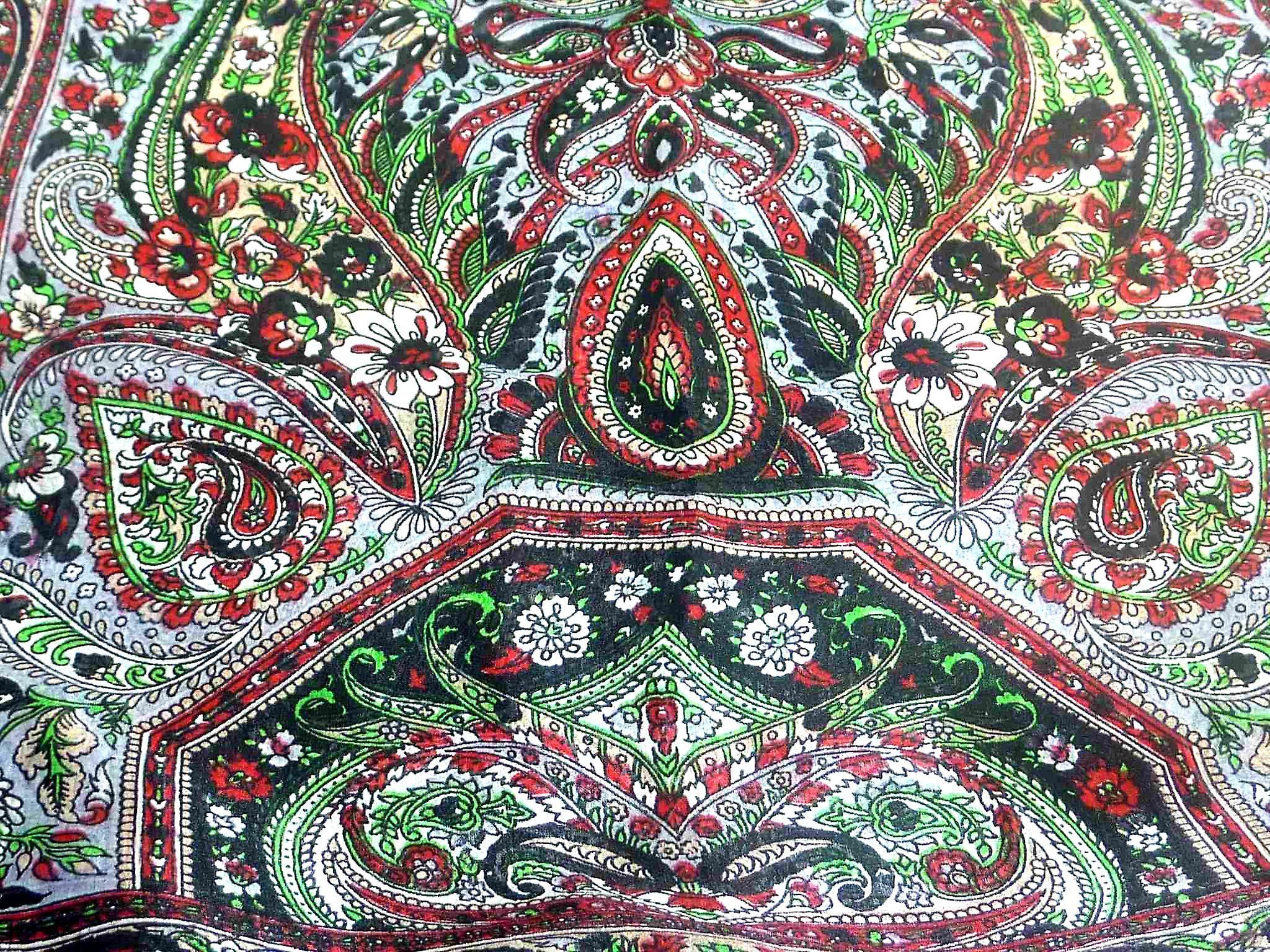 Mulberry Silk Traditional Long Scarf Sara Black by Pashmina & Silk