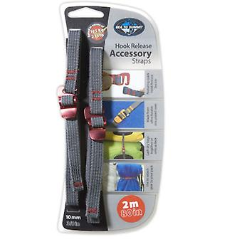 Sea to Summit Hook Release Accessory Straps 10mm/2m (Grey/Red) - 2m