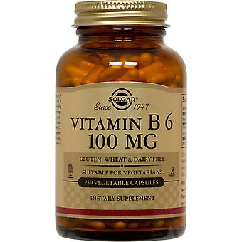 Solgar Vitamin B6 100 mg Vegetable Capsules 250ct