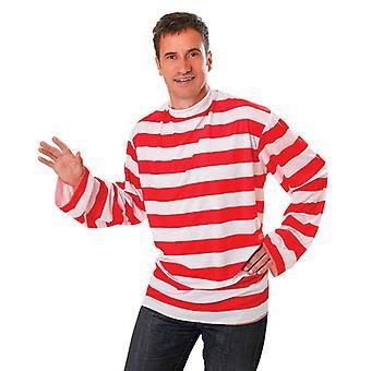 Red/White Striped Shirt.