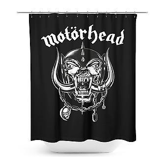 Rideau de douche Motörhead Roseline logo noir, imprimé, 100 % polyester, 180 x 200 cm.