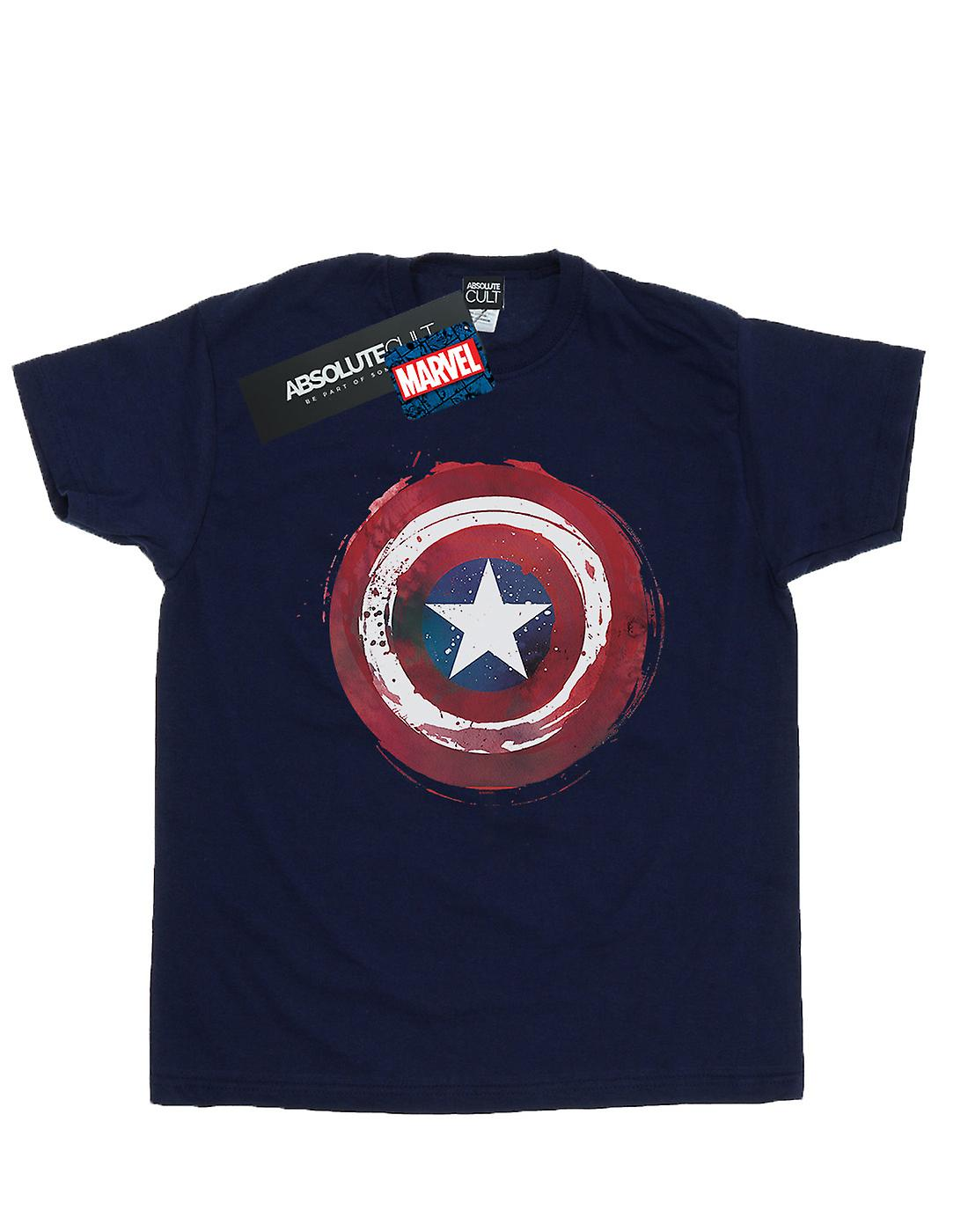 Marvel Boys Captain America Splatter Shield T-Shirt