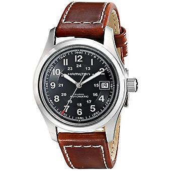 Hamilton Analog automatic men's watch with leather H70455533
