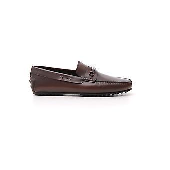 Tod's Xxm0lr0aj20d9cs801 Men's Brown Leather Loafers