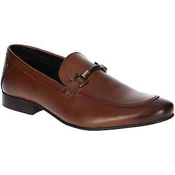 Base London Mens Soprano Washed Buckle Loafer Shoes