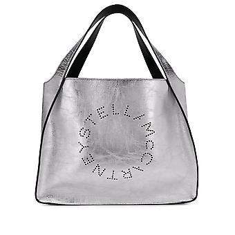 Stella Mccartney 502793w84908100 Women's Silver Faux Leather Tote