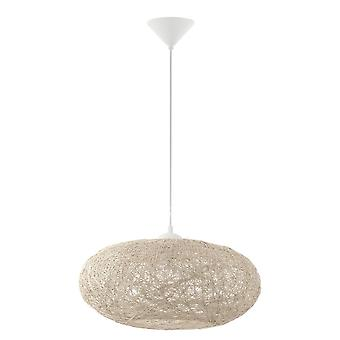 EGLO Campilo tyg Twist hänge ljus i Beige