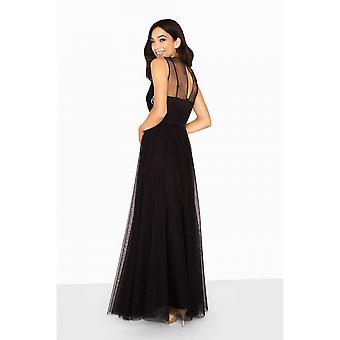 Little Mistress Womens/Ladies Hallie Sequin Embroidered Maxi Dress