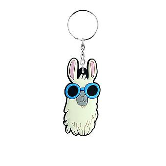Grindstore Funky Llama In Sunglasses Rubber Keychain